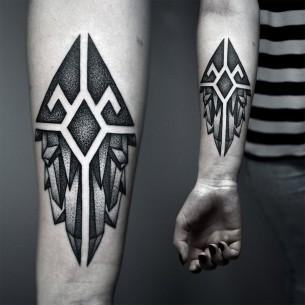 Forearm Crystals Tattoo