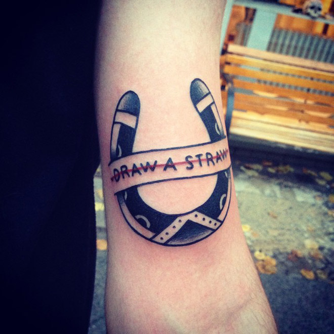Draw a Straw Tattoo