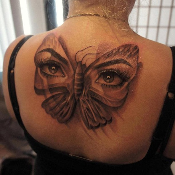Eyes Butterfly Tattoo