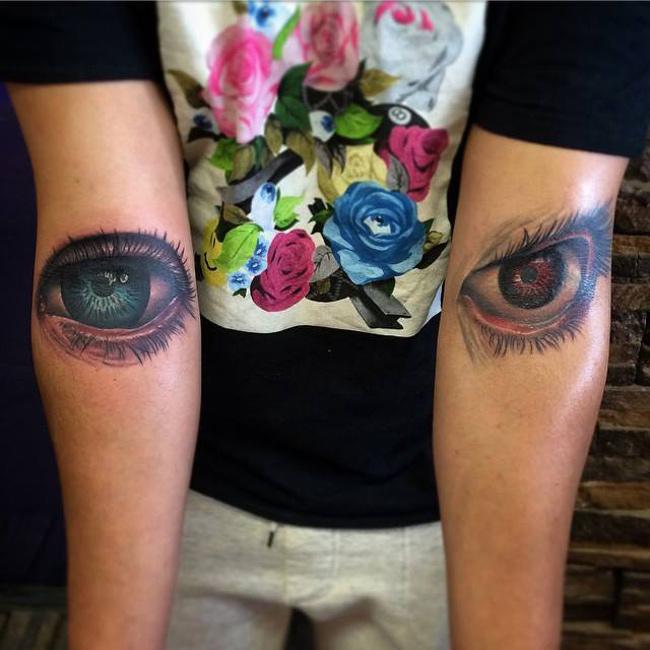 Eye tattoos best tattoo design ideas for Pain symbol tattoo