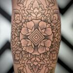 Flowery Mandala Tattoo