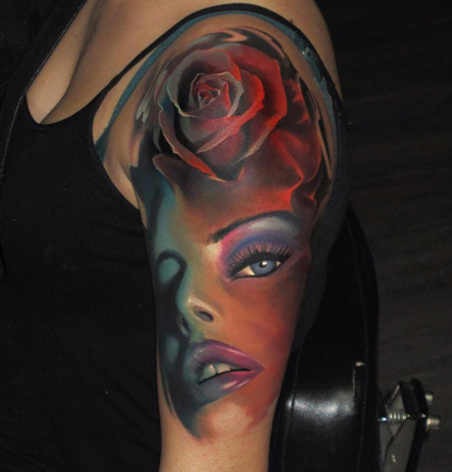 Girls Face Tattoo