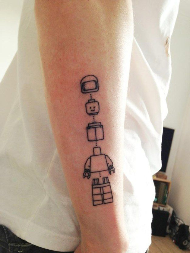 Lego Man Tattoo
