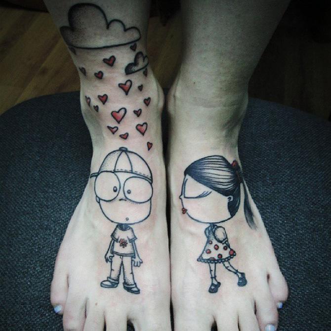 Love Foot Tattoo
