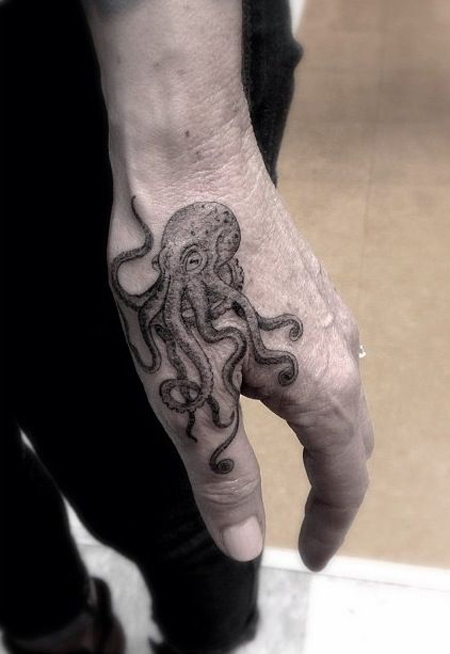 Octopus Hand Tattoo
