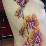 Orchid Side Tattoo