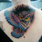 Owl Cover-Up Tattoo