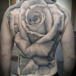 Rose Full Back Tattoo