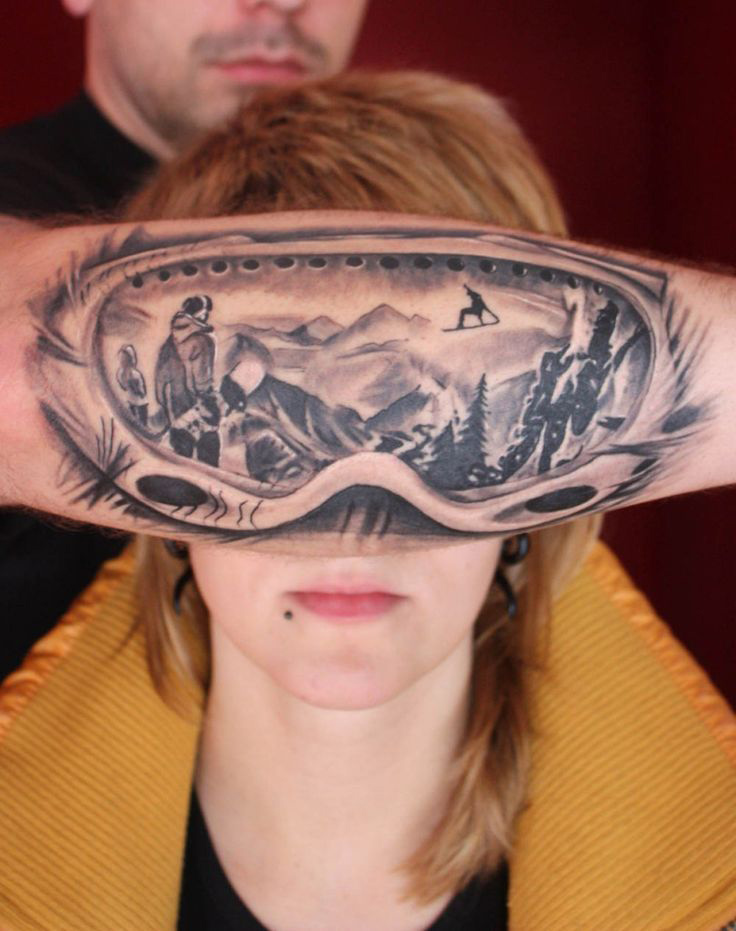 Ski Goggles Tattoo