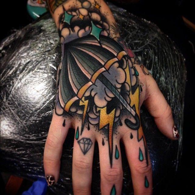 Hand Storm Tattoo