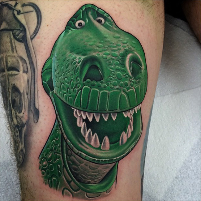 Toy Story Rex Tattoo