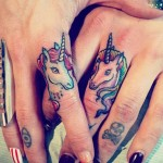 Unicorn Finger Tattoos