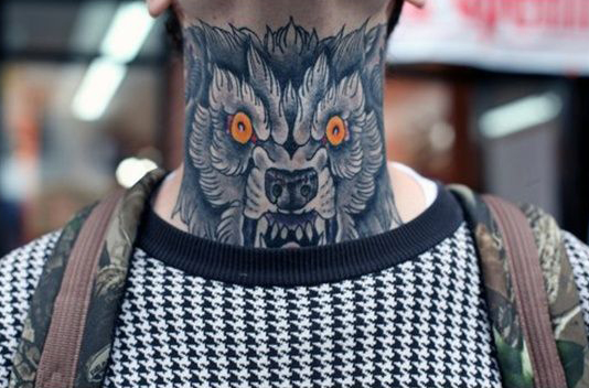 Wolf Neck Tattoo