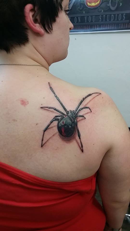 Spider Back Tattoo