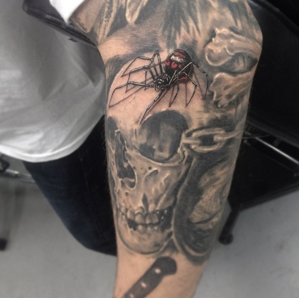 Black Widow Spider Tattoo