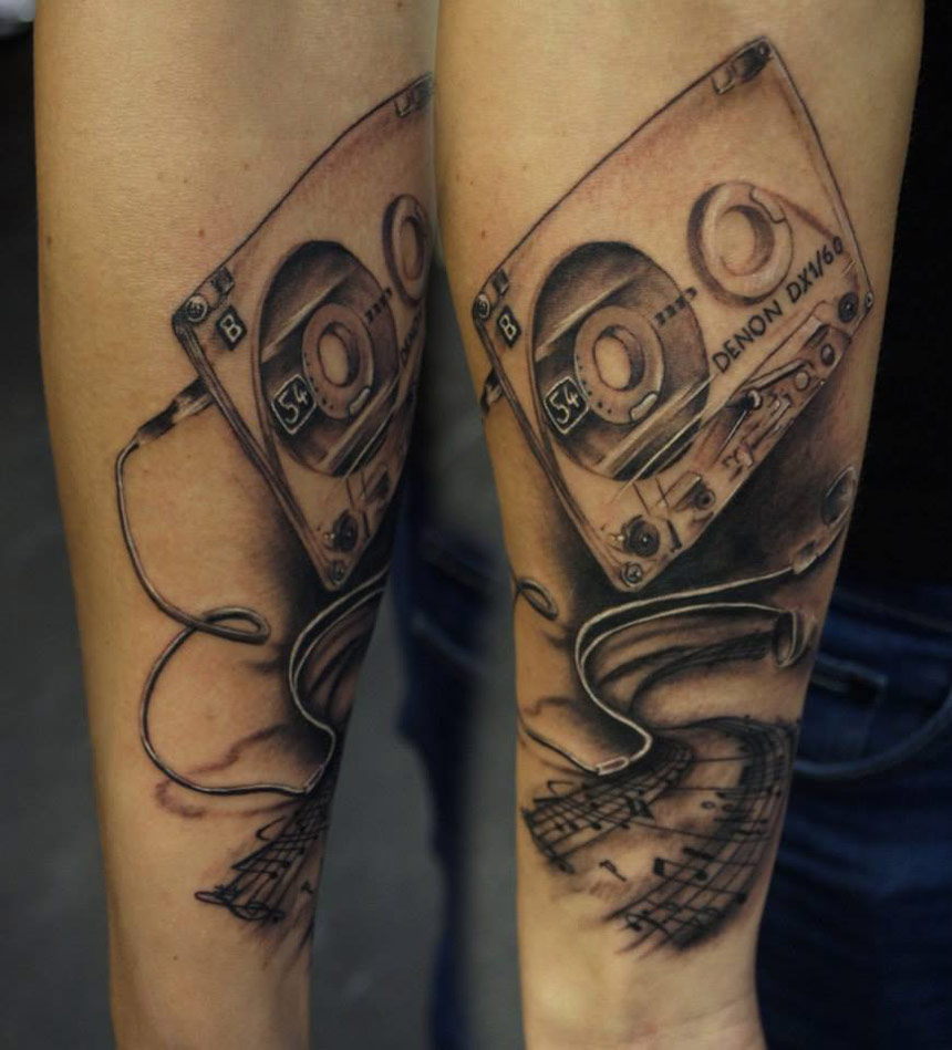 headphone tattoo designs images