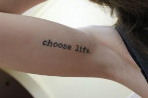 Choose Life Tattoo