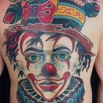 Clown Back Tattoo