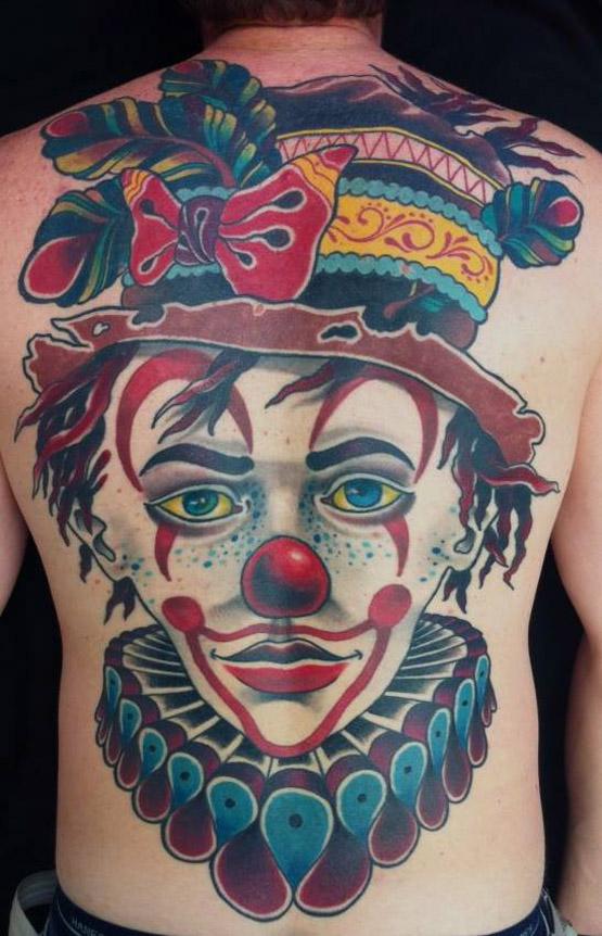Clown Back Tattoo