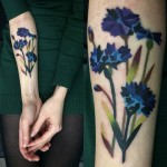 Cornflowers Arm Tattoo