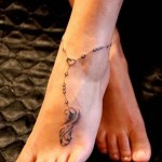 Cute Ankle Chain Tattoo