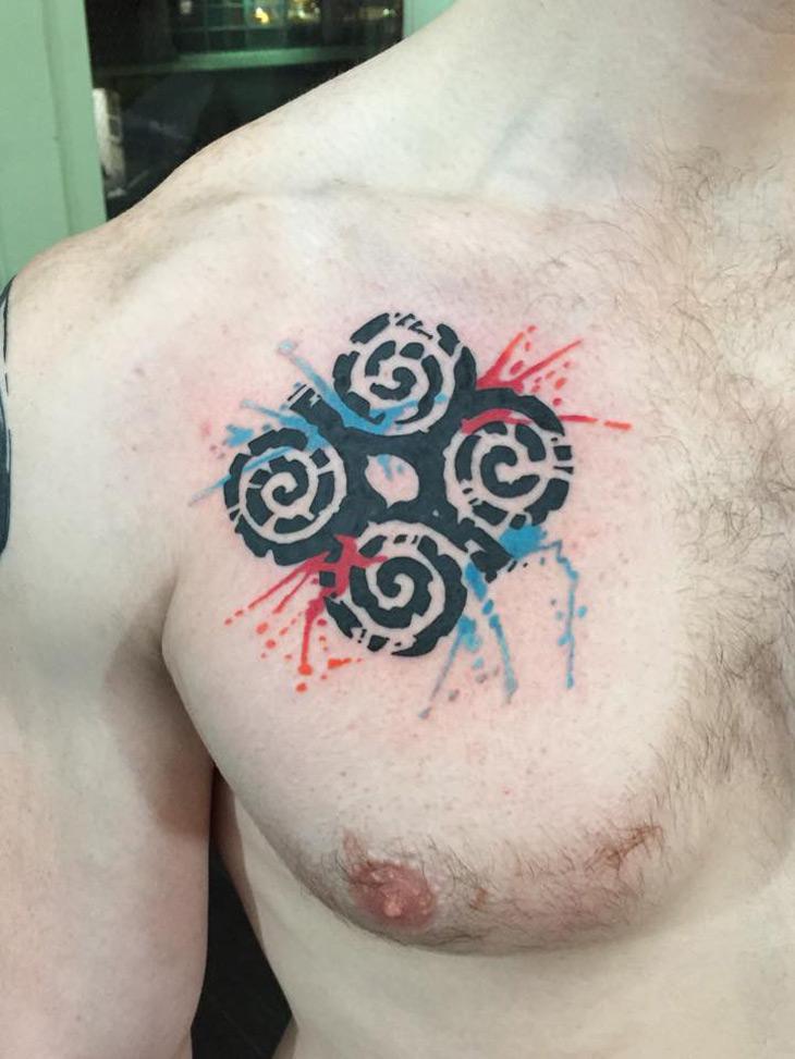 Dwennimmen Chest Tattoo