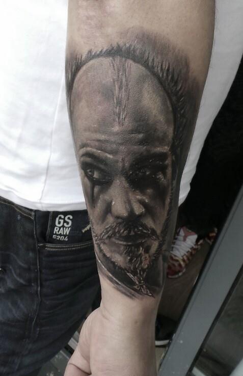 Floki tattoo from the vikings tv series done at costi tattoo