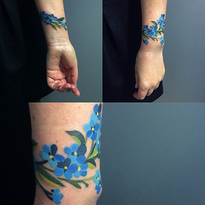 Forget Me Not Bracelet Tattoo