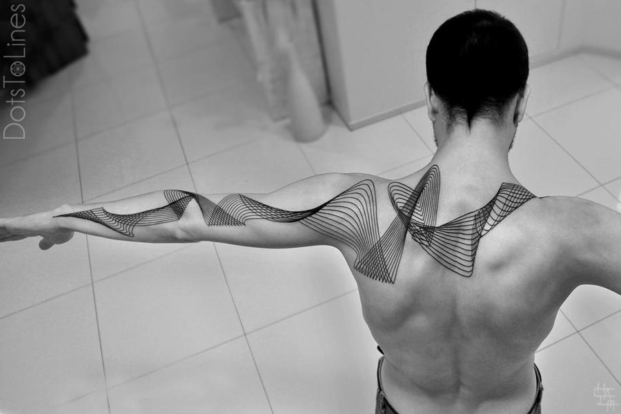 Geometric Lines Tattoo