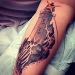 Lighthouse Arm Tattoo