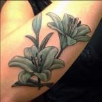 Lilies Forearm Tattoo