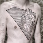 Line Heart Tattoo