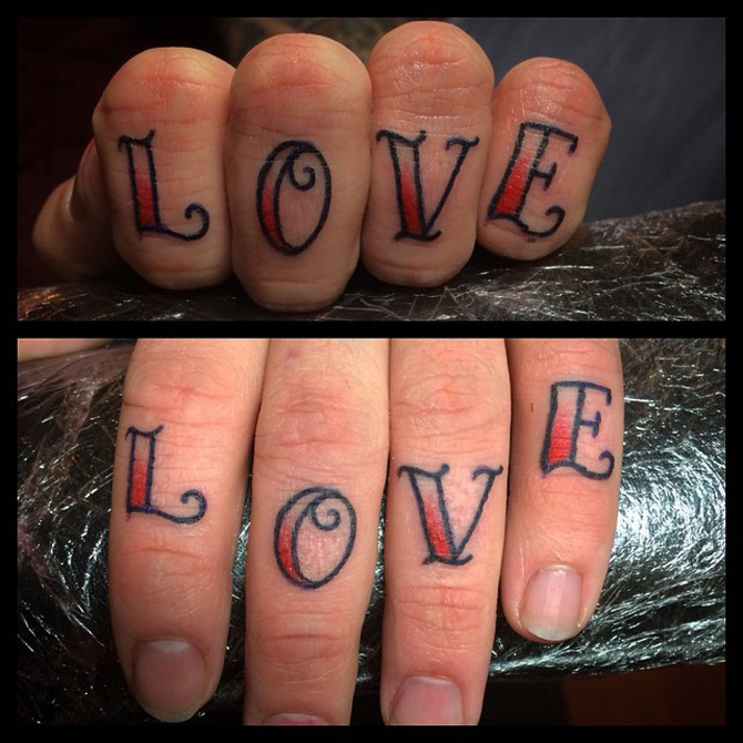 Love Fingers Tattoo
