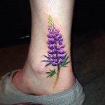 Pretty Lupin Flower Tattoo