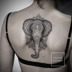 Mandala Elephant Back Tattoo