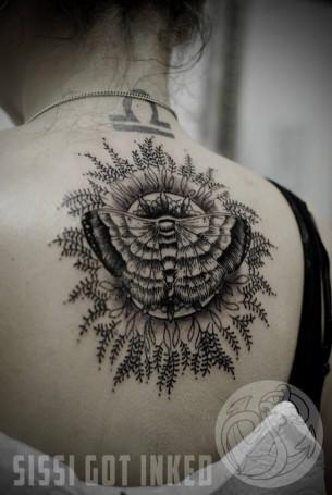 Moth Mandala Tattoo