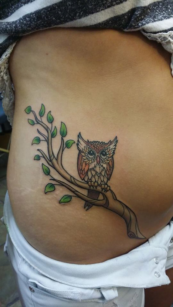owl on a branch belly tattoo best tattoo design ideas. Black Bedroom Furniture Sets. Home Design Ideas