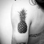 Realistic Pineapple Tattoo