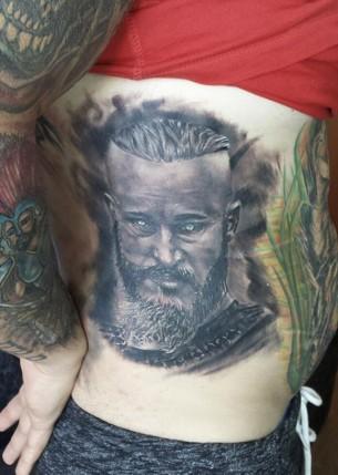 Side tattoos best tattoo design ideas for Ragnar head tattoo stencil
