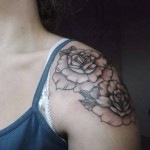Roses Shoulder Tattoo