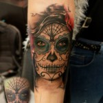 Sugar Skull Cover Up Tattoo