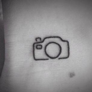 Tiny Camera Tattoo