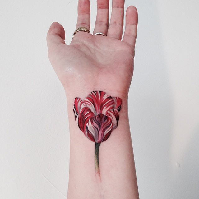 Tulip Wrist Tattoo