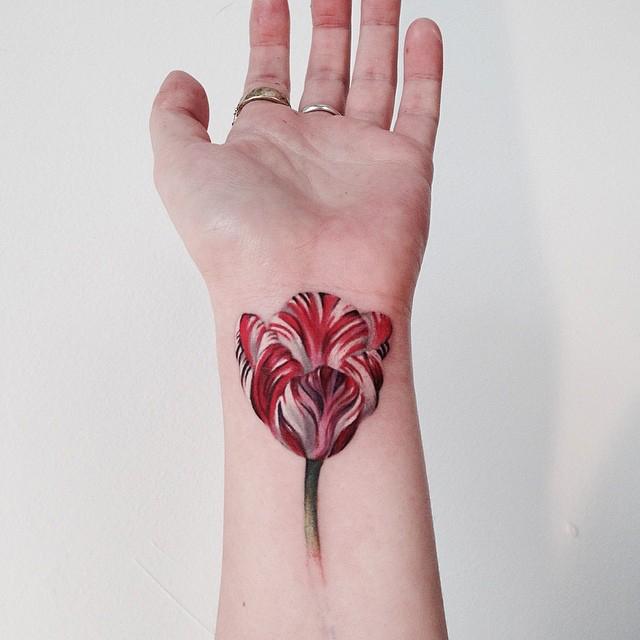Tulip Wrist Tattoo