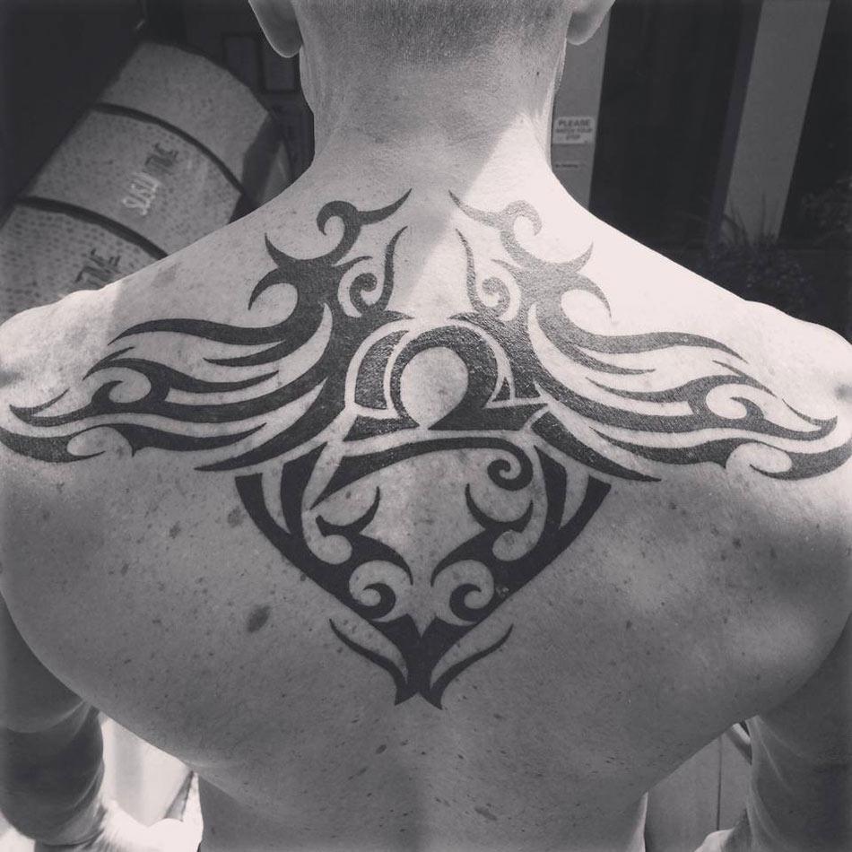 Tribal Back Tattoo