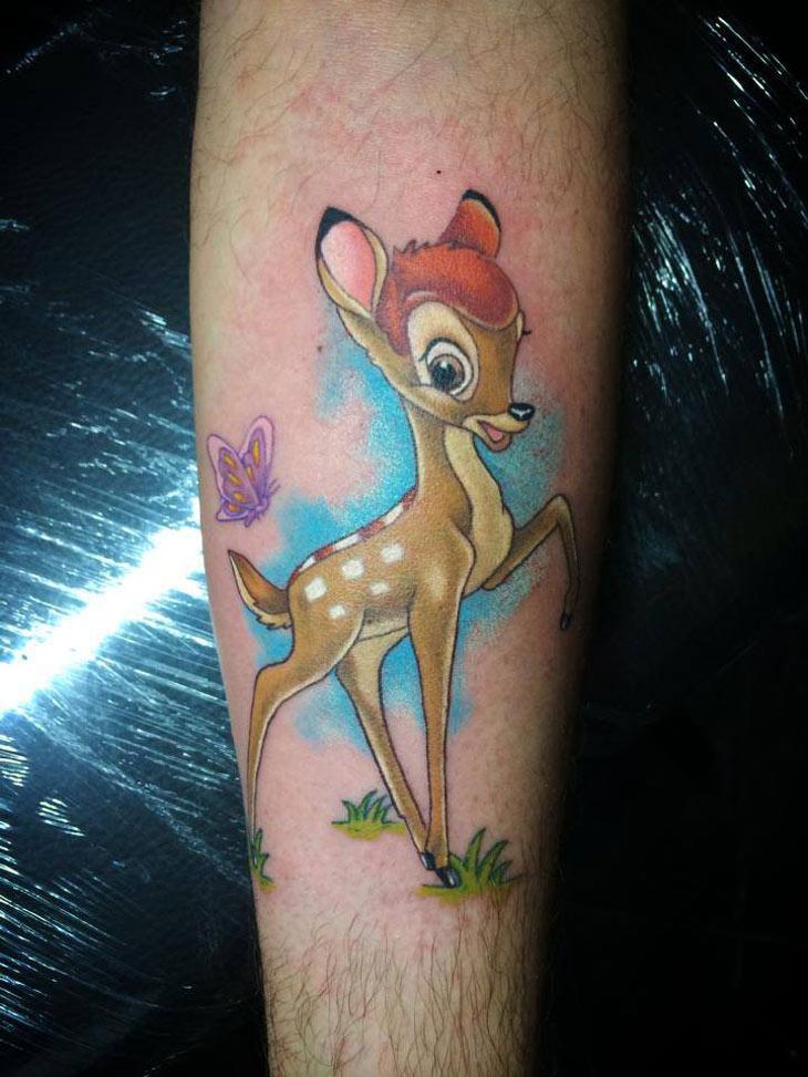 Bambi Arm Tattoo