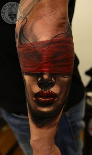 Bound Eyes Tattoo
