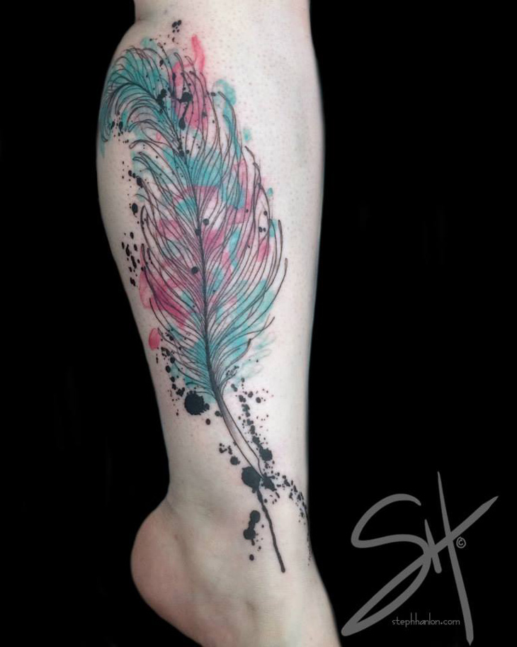 Watercolor Calligraphy Quill | Best tattoo ideas & designs
