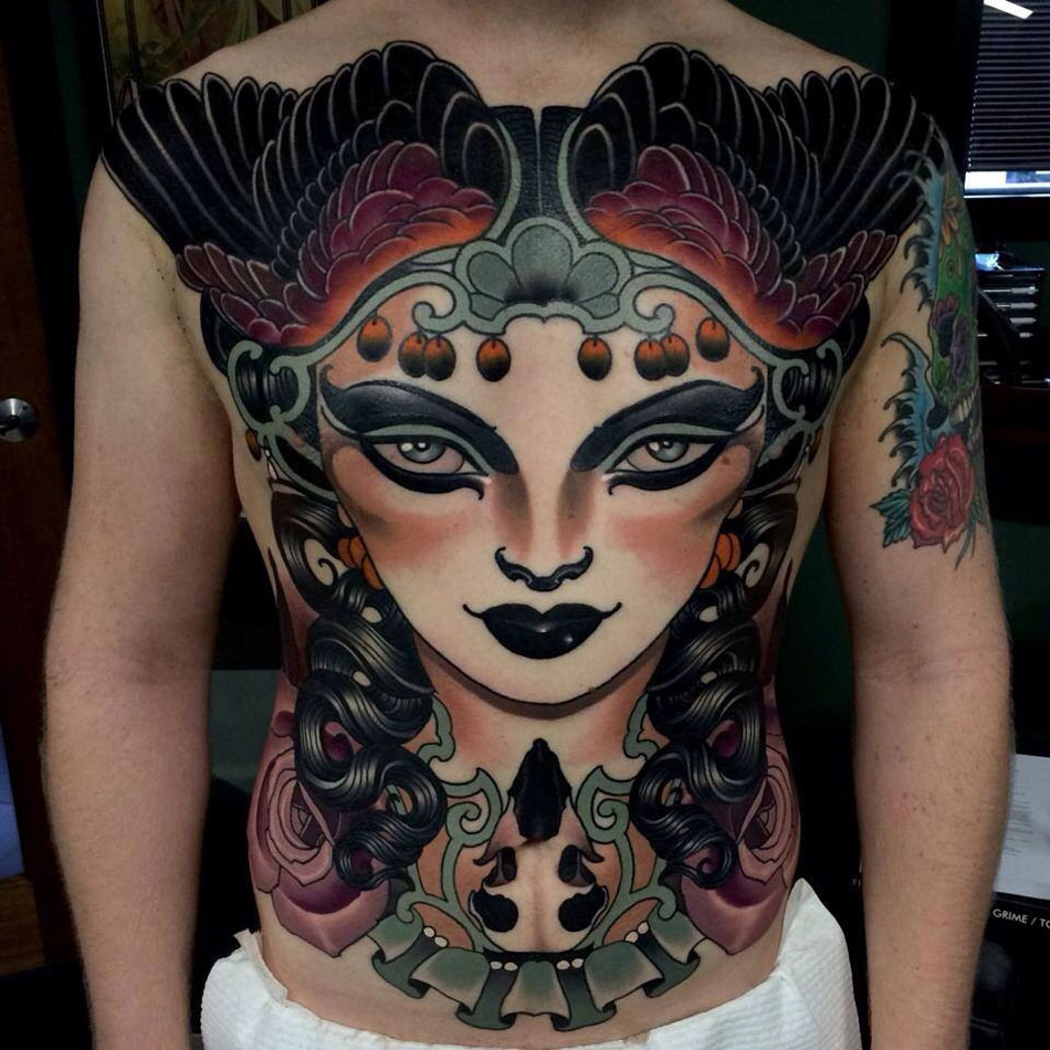 Beautiful Front Tattoo