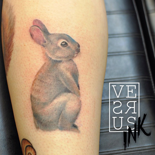 cute rabbit tattoo best tattoo design ideas. Black Bedroom Furniture Sets. Home Design Ideas